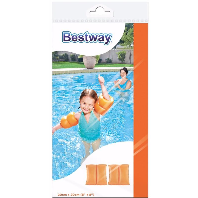 Oranje zwembandjes voor kinderen 20 cm