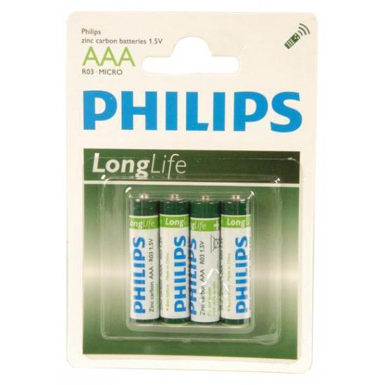 Philips batterijen 4 stuks AAA