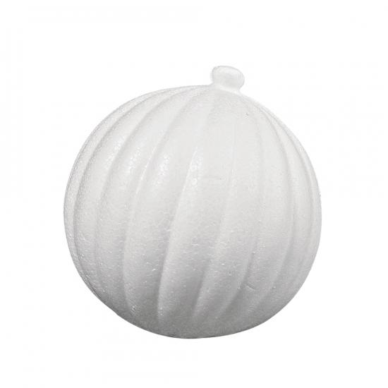 Piepschuim kerstballen 8 cm