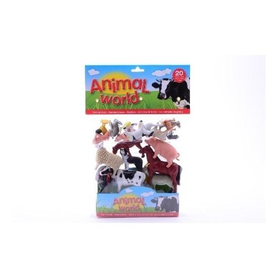 Speelgoed diversen Plastic boerderij dieren 20 stuks