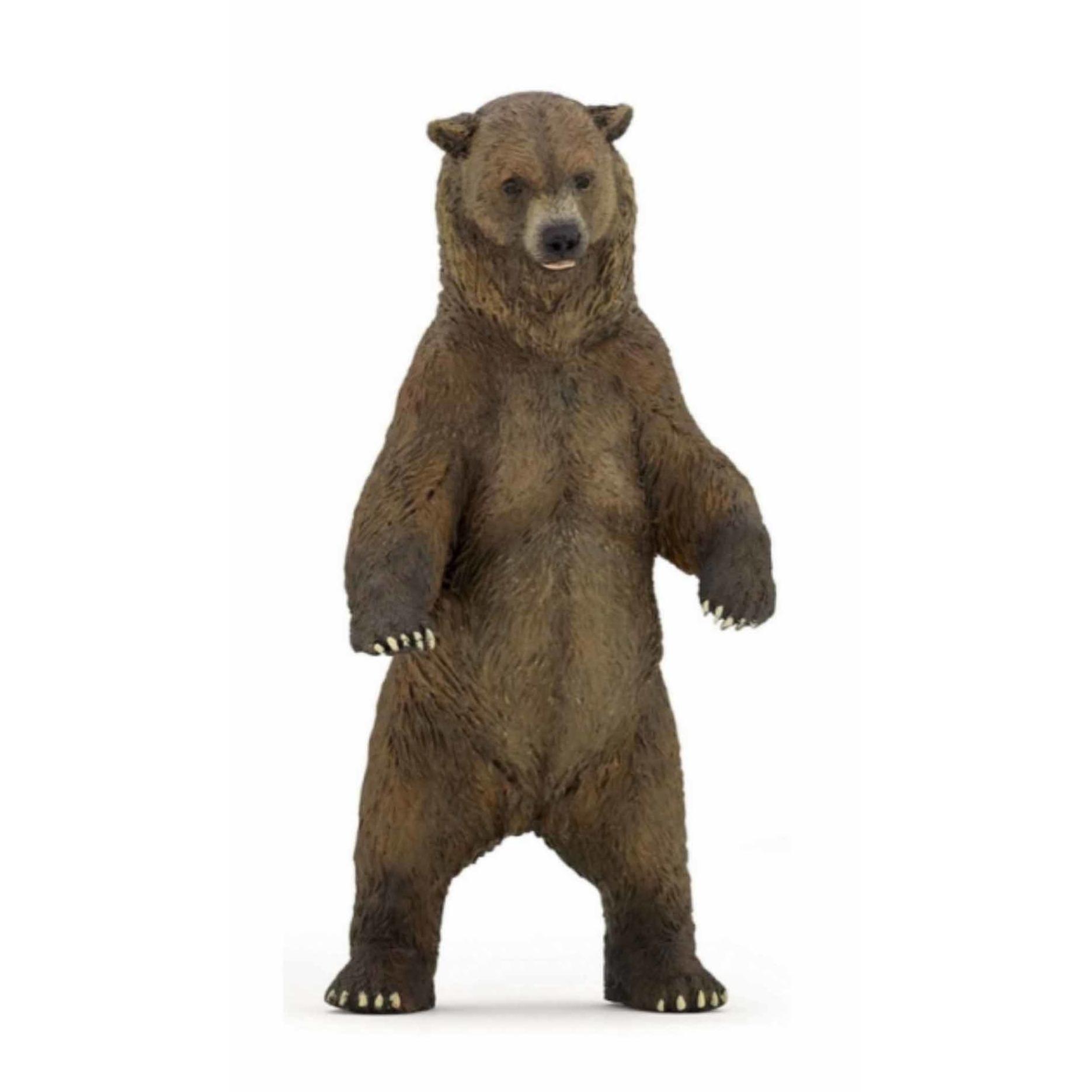 Speelfiguren sets Papo Plastic grizzly beer 12 cm