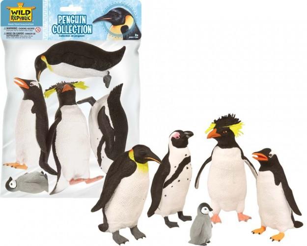Plastic pinguins 5 stuks Wild Republic te koop