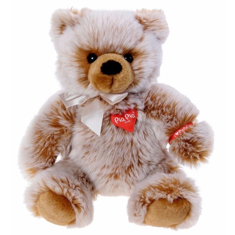 Pluche bruine beer knuffel zittend 35 cm Pia Pia Dieren knuffels