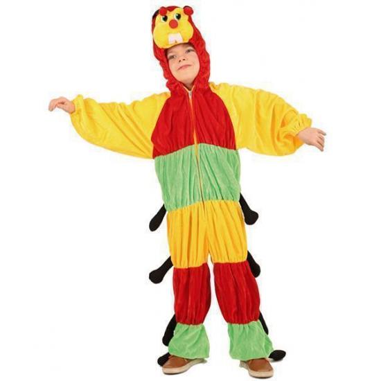 Pluche duizendpoot kostuum voor kinderen. dit pluche duizendpoot pak bestaat uit een groen rood met geel ...