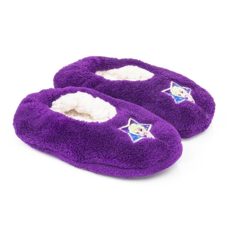 Disney Pluche Frozen pantoffels paars Sloffen en Pantoffels