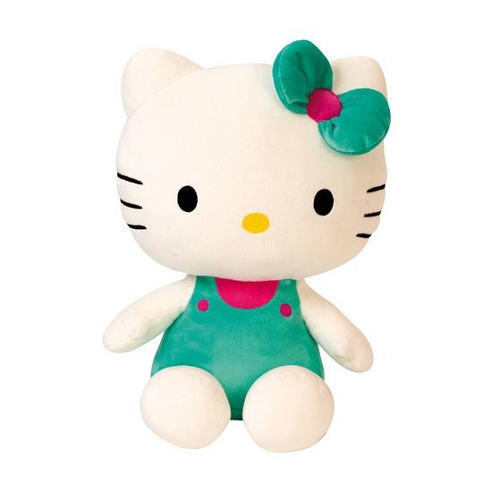 Pluche Hello Kitty groen 30 cm