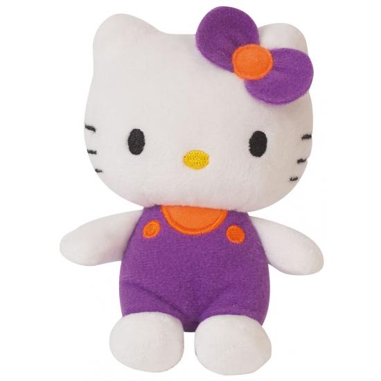 Pluche Hello Kitty paars 12 cm