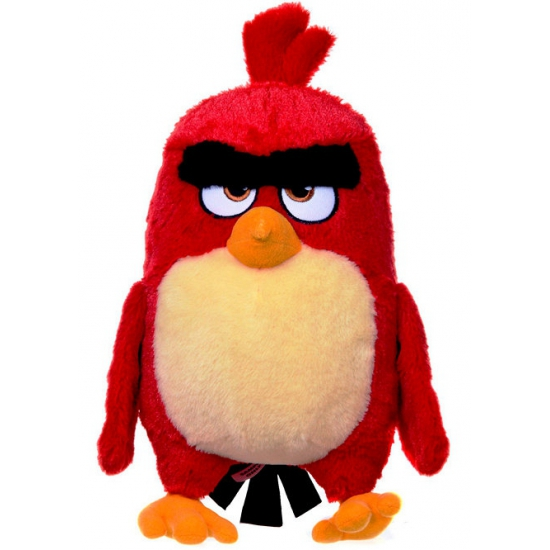 Pluche knuffel Angry Birds knuffel rood 28 cm