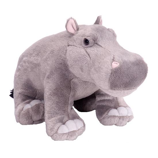 Pluche knuffel nijlpaard 30 cm