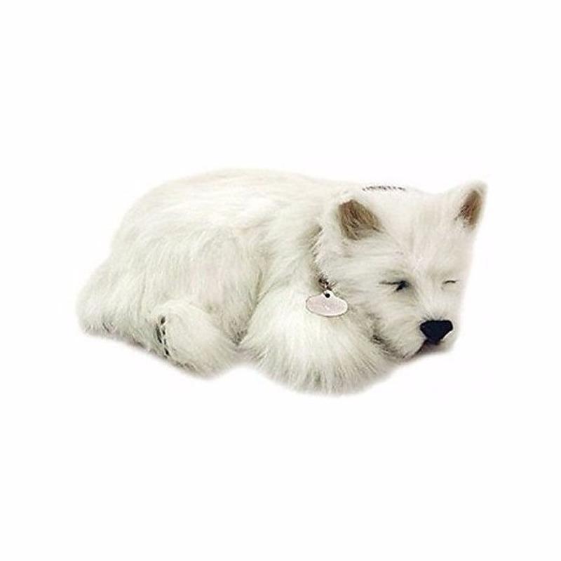 Pluche knuffel slapende Westie hondje