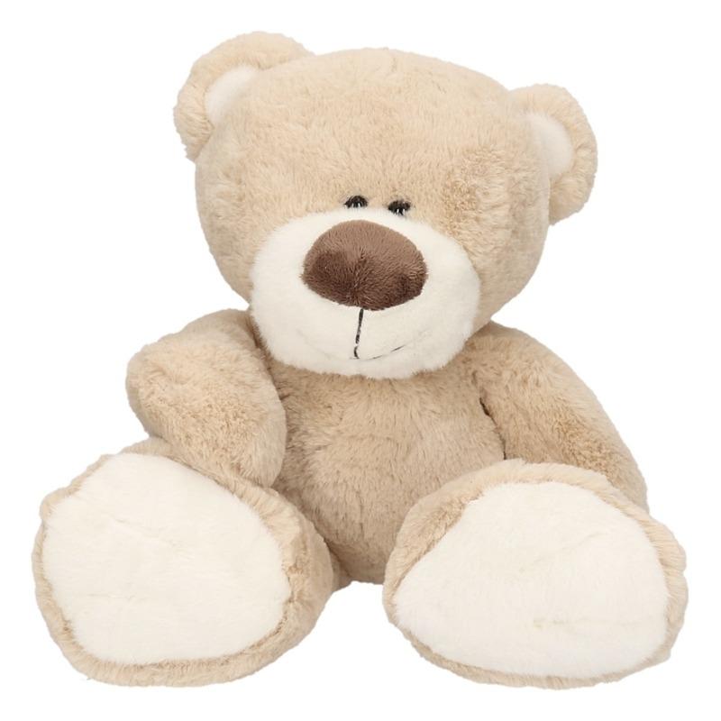 Geen Pluche lichtbruine beer Bobo knuffel 38 cm Dieren knuffels
