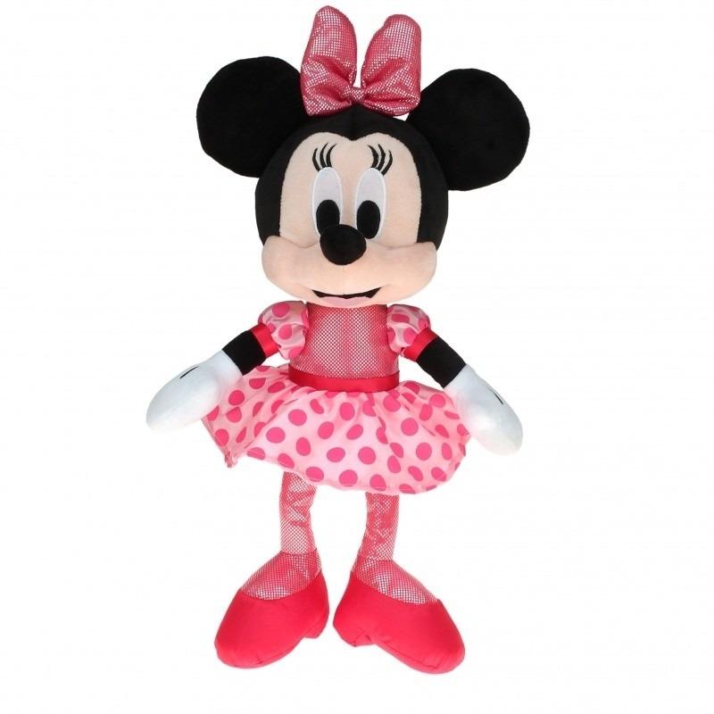 Pluche Minnie Mouse knuffel ballerina met stippen jurk 40 cm