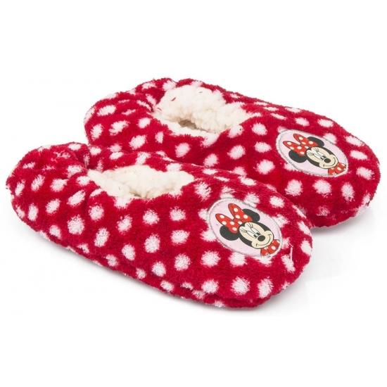 Sloffen en Pantoffels Disney Pluche Minnie Mouse pantoffels rood