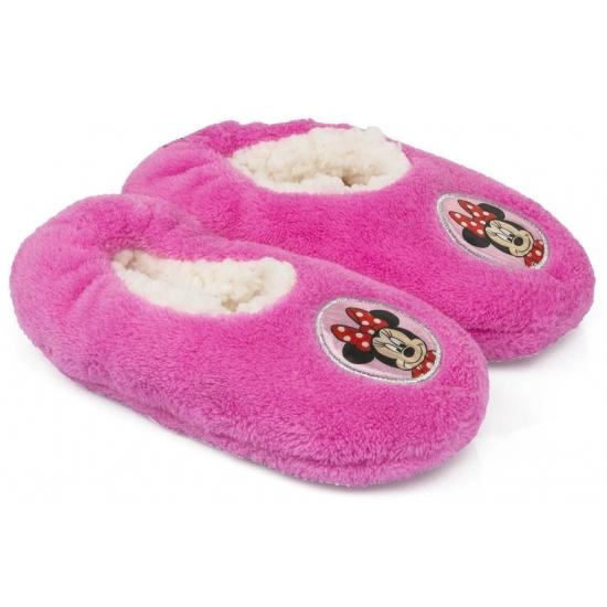 Pluche Minnie Mouse pantoffels roze Disney Sloffen en Pantoffels