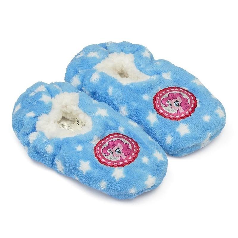Pluche My Little Pony pantoffels sloffen blauw voor meisjes Hasbro Sloffen en Pantoffels