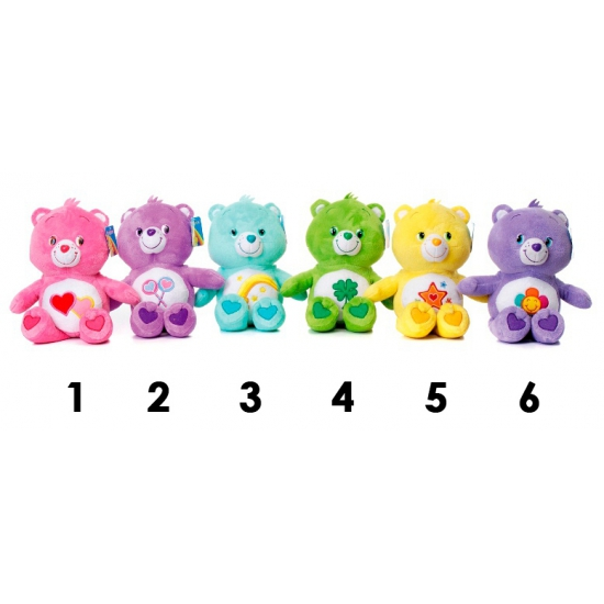 Cartoon knuffels Pluche paarse Care Bear 25 cm