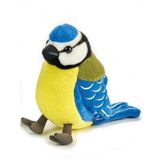 Pluche pimpelmees vogel knuffel 14 cm