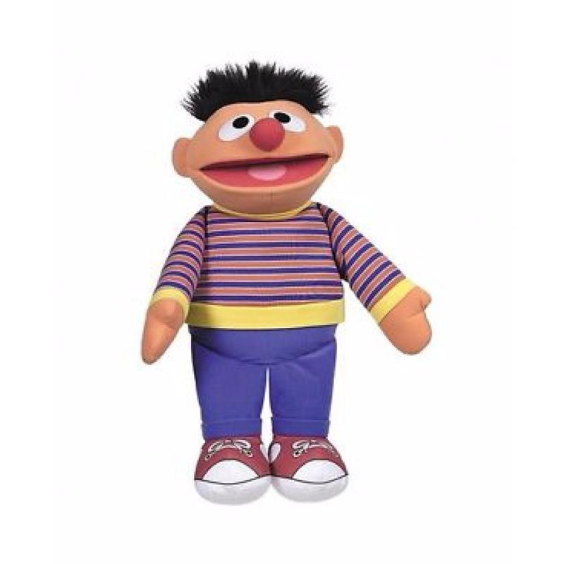 Pluche Sesamstraat Ernie mega knuffel 60 cm