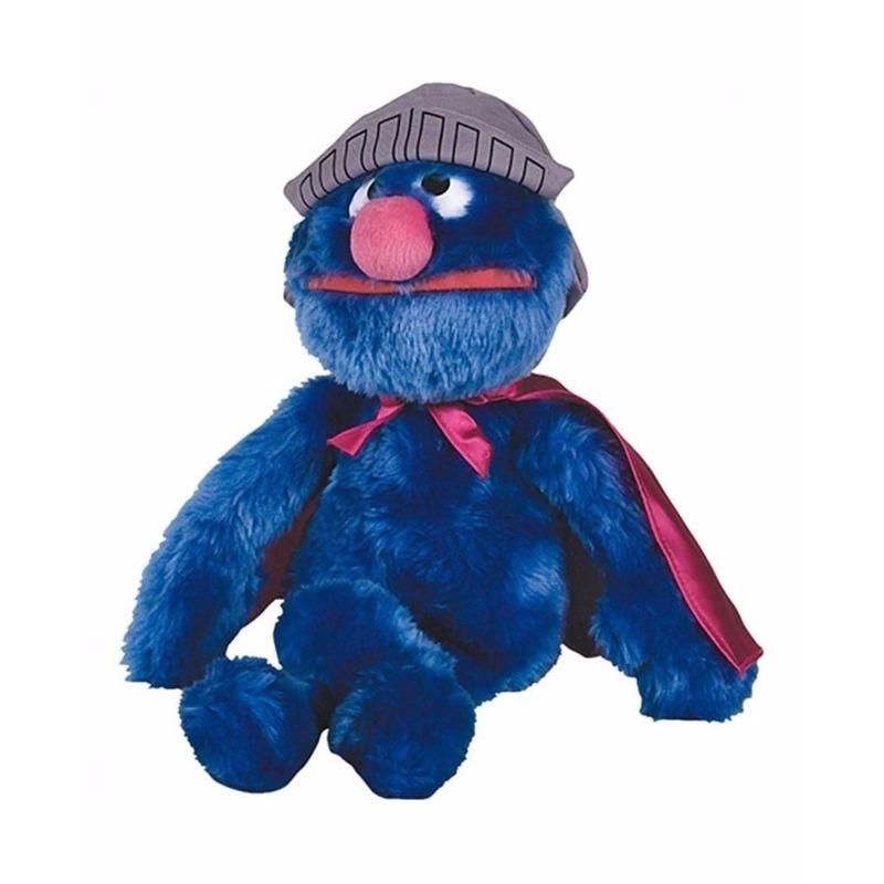Pluche Sesamstraat Super Grover mega knuffel 60 cm