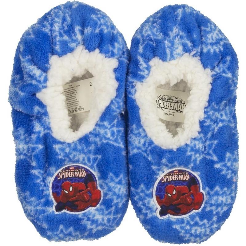 Sloffen en Pantoffels Pluche Spiderman pantoffels sloffen blauw voor jongens