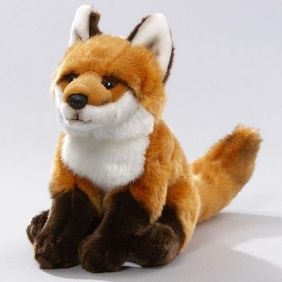 Pluche vos knuffel 27 cm zittend