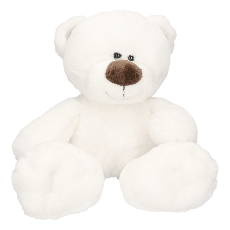 Dieren knuffels Geen Pluche witte ijsbeer Bobo knuffel 38 cm