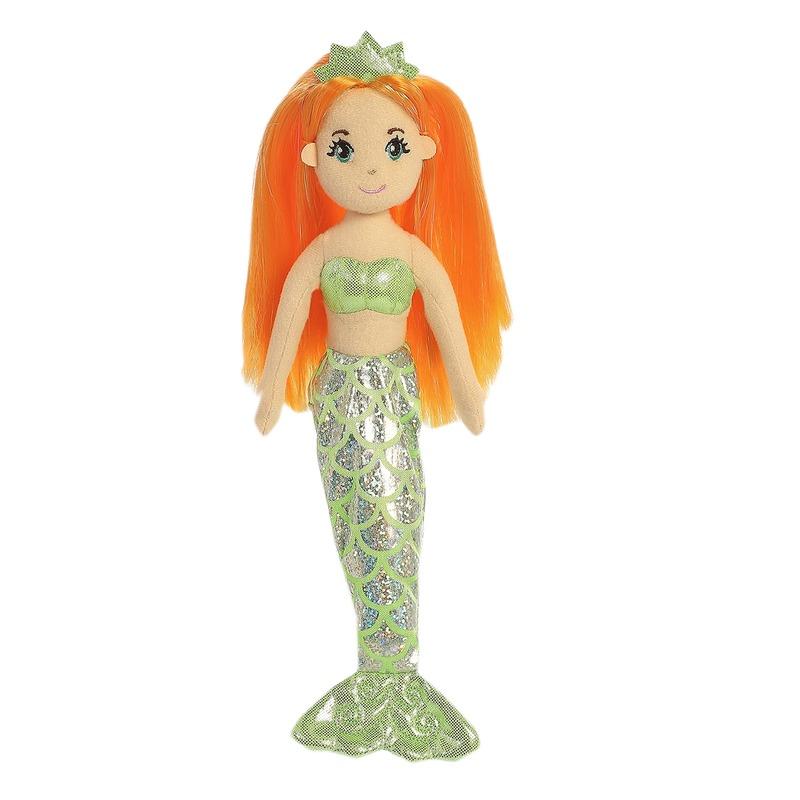 Pluche zeemeermin knuffel pop-poppen Amber 25 cm