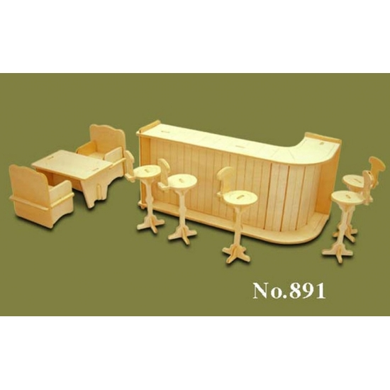 Poppenhuis meubels bar