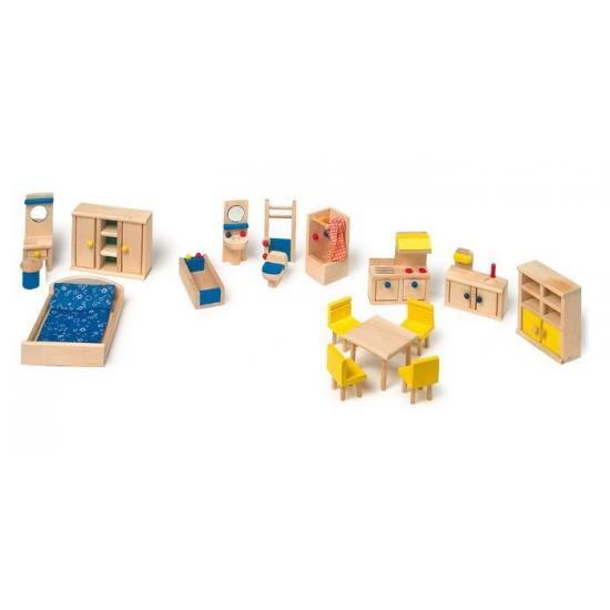 Poppenhuis meubels met keuken