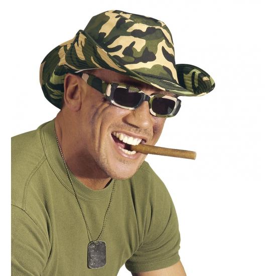 Rechthoekige camouflage brillen