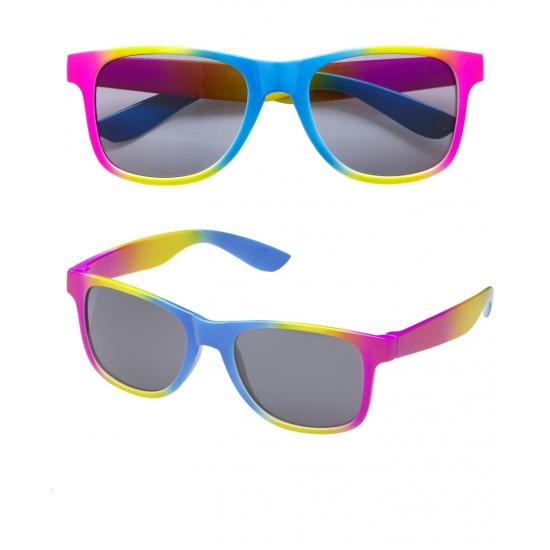 Regenboog retro zonnebril