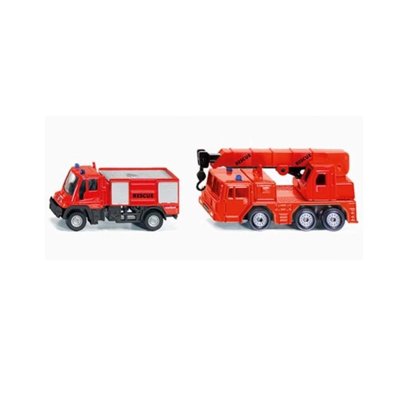 Rode brandweer autos
