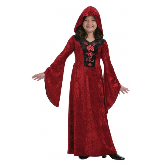 Rode meisjes vampieren jurk halloween kostuum verkleed kleding