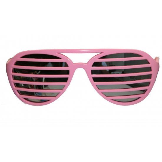Roze lamellen bril