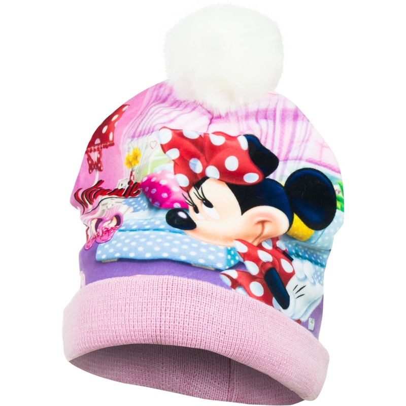 Roze Minnie Mouse muts met pompom voor meisjes Disney te koop