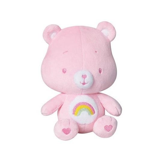 Cartoon knuffels Troetelbeertjes Roze troetelbeer knuffel met rammelaar 16 cm