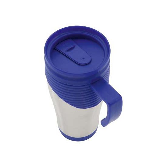 RVS Thermosbeker blauw 400 ml