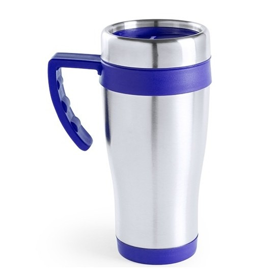 RVS thermosbeker blauw 500 ml