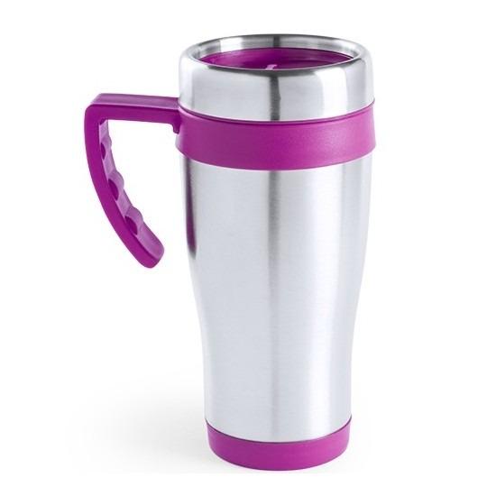 RVS thermosbeker roze 500 ml