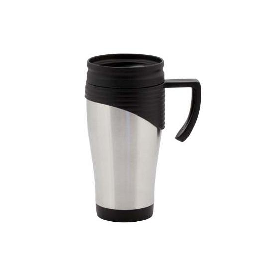 RVS Thermosbeker zwart 400 ml