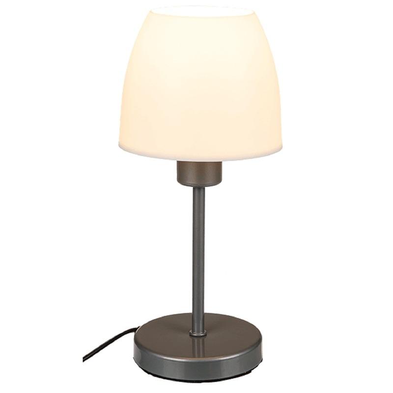 Schemerlamp-tafellamp grijze voet 26,5 cm