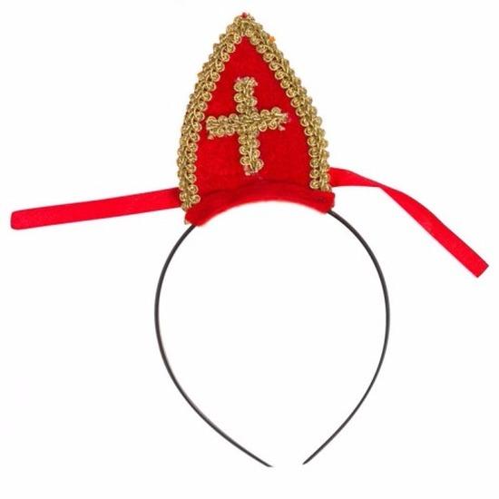 Sinterklaas diadeem met mijter voor volwassenen