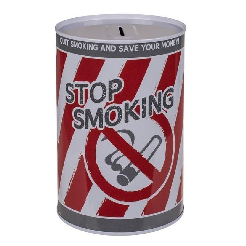 Spaarpot blik Stop Smoking 10 x 15 cm