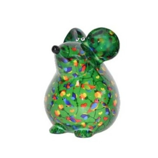 Spaarpot muis 17 cm groen type 1