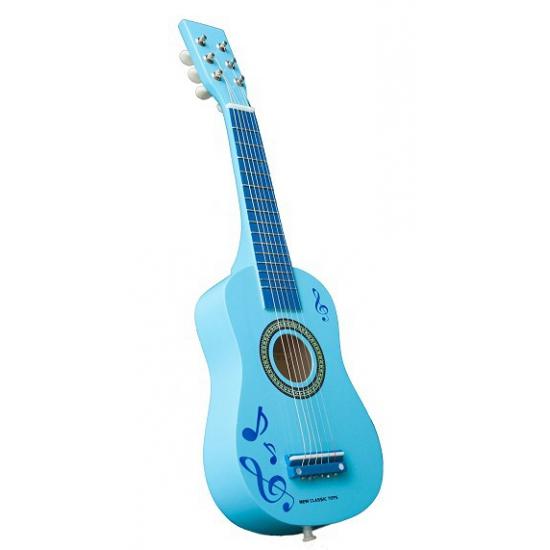Speelgoed gitaar blauw