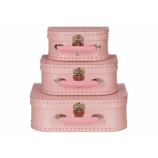 Speelgoed koffertje licht roze 20 cm Geen Speelgoed diversen