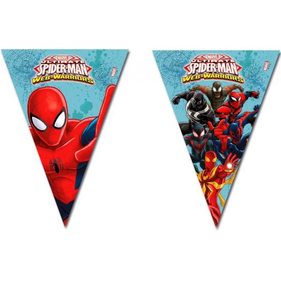 Kinderfeestjes Spiderman Warriors vlaggenlijn