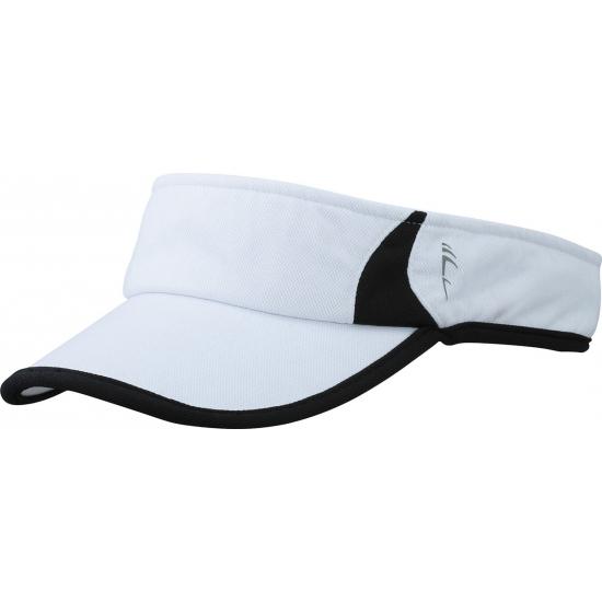 Sportieve zonneklep wit en zwart