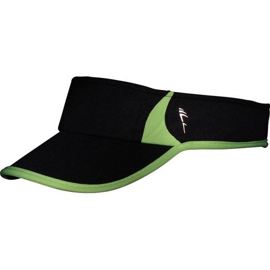 Sportieve zonneklep zwart en groen