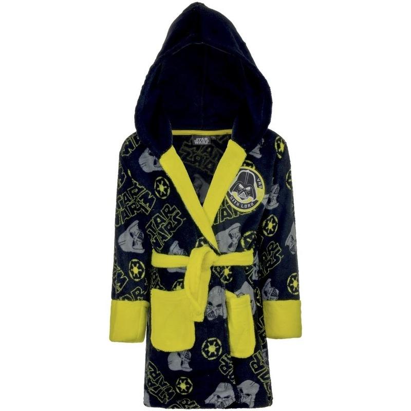 Kleding accessoires Star Wars badjas navy geel voor jongens